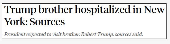 特朗普到医院探望弟弟
